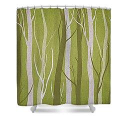 Dark Forest Shower Curtain by Aged Pixel