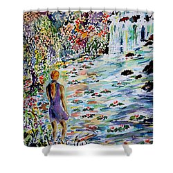 Shower Curtain featuring the painting Daughter Of The River by Alfred Motzer