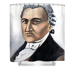 Shower Curtain featuring the painting David Brearley (1745-1790) by Granger