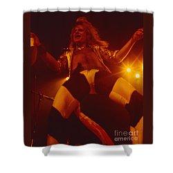 David Lee Roth - Van Halen At The Oakland Coliseum 12-2-1978 Rare Unreleased Shower Curtain by Daniel Larsen