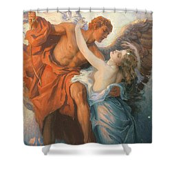 Day And The Dawnstar Shower Curtain by Herbert James Draper