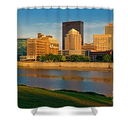 D4u-379 Dayton Skyline Photo Shower Curtain