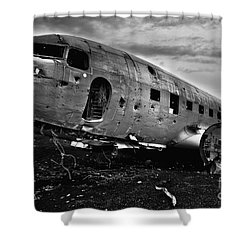 Dc-3  Shower Curtain by Gunnar Orn Arnason