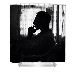 Deep In Thought Shower Curtain