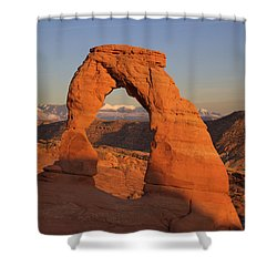 Delicate Arch At Sunset Shower Curtain