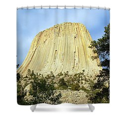 Shower Curtain featuring the photograph Devils Tower National Monument Wyoming Usa by Shawn O'Brien
