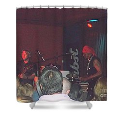 Devon Allman And Cyril Neville Shower Curtain by Kelly Awad