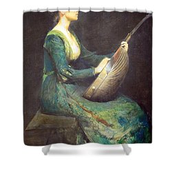 Dewing's Lady With A Lute Shower Curtain by Cora Wandel
