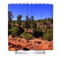 Diamondback Gulch In Sedona Arizona Shower Curtain by David Patterson