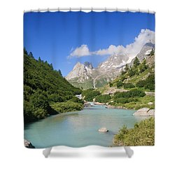Dora Stream. Veny Valley Shower Curtain