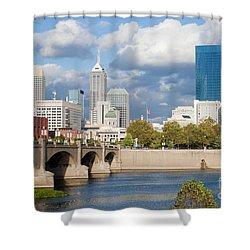 Downtown Indianapolis Indiana Shower Curtain by Anthony Totah