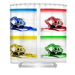 Dozer Mania Shower Curtain by Kip DeVore