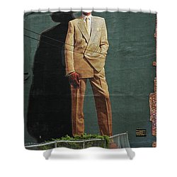 Dr. J. Shower Curtain by Allen Beatty