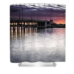 Drawbridge At Sunset Shower Curtain