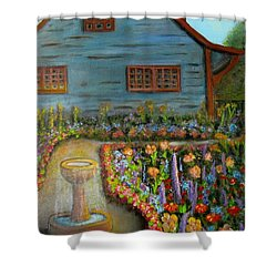 Dream Garden Shower Curtain by Laurie Morgan