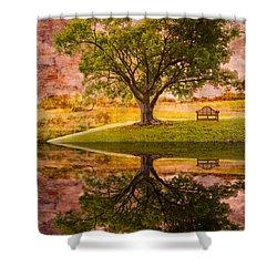 Dreaming Shower Curtain by Debra and Dave Vanderlaan