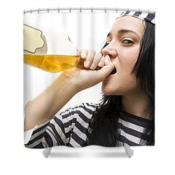 Drinking Detainee Shower Curtain