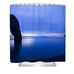 Durdle Door At Dusk Shower Curtain by Ian Middleton