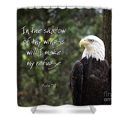 Eagle Scripture Shower Curtain