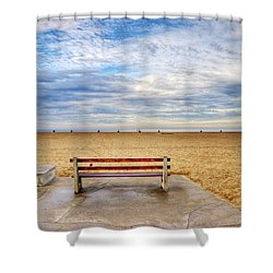 Early Morning At The Beach Shower Curtain by Chuck Staley