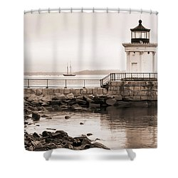 Early Morning Bug Light Shower Curtain by Richard Bean