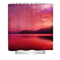 Early To Rise Shower Curtain by Darren Fisher