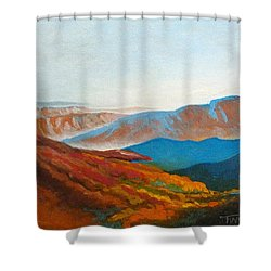 East Fall Blue Ridge Mountains 2 Shower Curtain by Catherine Twomey