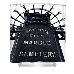 East Village Cemetery Shower Curtain by Natasha Marco