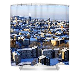 Edinburgh Winter Cityscape Shower Curtain by Craig B