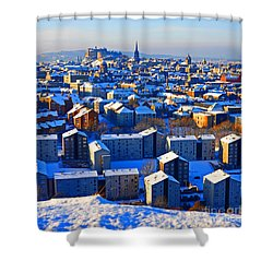 Edinburgh Winter Shower Curtain by Craig B