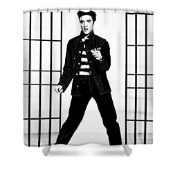 Elvis Presley Shower Curtain by Doc Braham