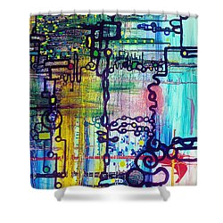Emergent Order Shower Curtain