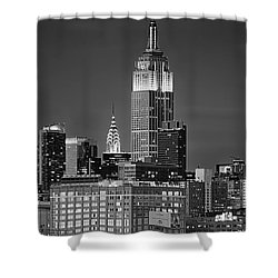 Empire And Chrysler Buildings Shower Curtain