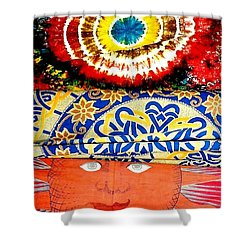 Shower Curtain featuring the photograph Eye On Fabrics by Michael Hoard