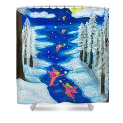 Faery Merry Christmas Shower Curtain