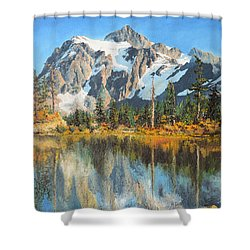 Fall Reflections - Cascade Mountains Shower Curtain