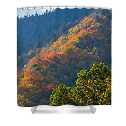 Fall Smoky Mountains Shower Curtain by Melinda Fawver