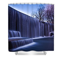 Shower Curtain featuring the photograph Falling Water by Mihai Andritoiu