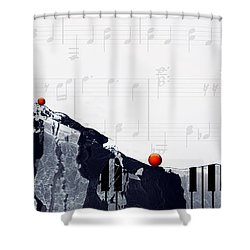 Fantasia - Piano Art By Sharon Cummings Shower Curtain by Sharon Cummings