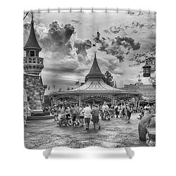 Shower Curtain featuring the photograph Fantasyland by Howard Salmon