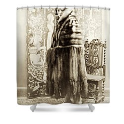 Shower Curtain featuring the photograph Fashion Fur, 1925 by Granger