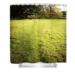 Field Shower Curtain by Les Cunliffe