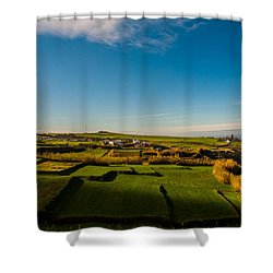 Fields Of Green And Yellow Shower Curtain