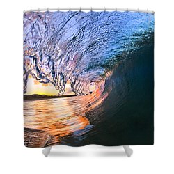 Fire And Ice Shower Curtain by Sean Davey
