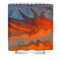 Fire Shower Curtain by Carol Lynch