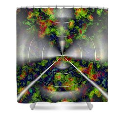 Fire Cloud Shower Curtain by Christopher Gaston