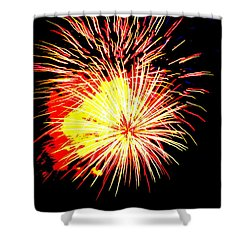 Fireworks Over Chesterbrook Shower Curtain by Michael Porchik