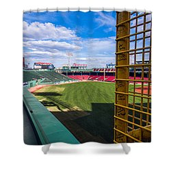 Fisk's Pole And The Green Monster Shower Curtain