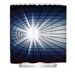 Fissile Detonation Abstract Shower Curtain by Daniel Hagerman