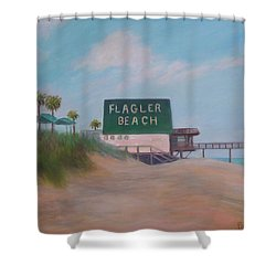 Flagler Beach Florida Shower Curtain